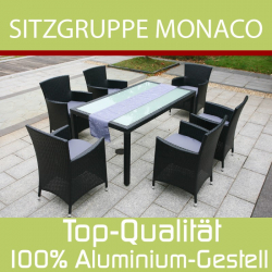 Garden Dining Set 'Monaco', black