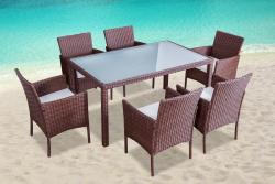 Garden furniture dining Set Mexiko brown
