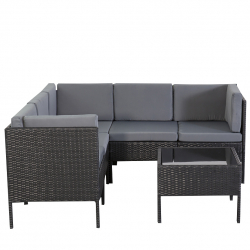 Garden furniture dining det chile in black