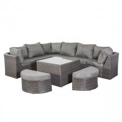 Garden furniture lounge set Bolivien in grey
