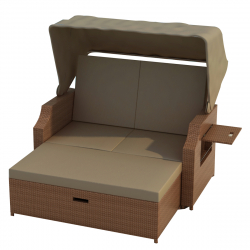 Beach chair 'Cuxhaven' brown/brown