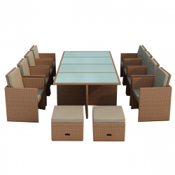 Garden furniture Set Bogota light brown