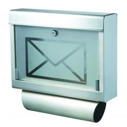 Briefkasten Letter Wandbriefkasten Aluminium mit Zeitungsfach
