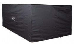 Cover for garden furniture in black 2,1 x 1,3 x 0,8 m winter qua