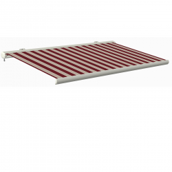Full cassette awning Sunray 4 x 3 m white/bordeaux/brown II