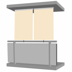 Jet-Line Outdoor Sight Protection Blind 140 x 230 cm, beige