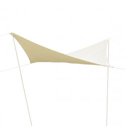 Shade sail in beige 4 x 4 m