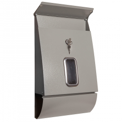 Briefkasten Jet-Box in grau inkl. Zeitungsrolle