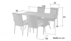 Garden furniture Lanzarote black