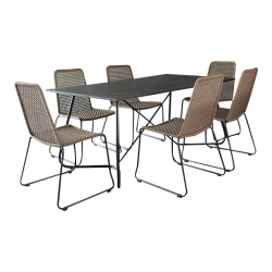Garden furniture Martinique coffee