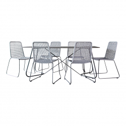 Gartenset Martinique in grau Essgruppe Dining Set
