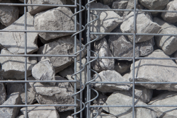 Set of 4 Stone Gabions 200 x 150 x 30 cm