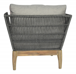 Garden furniture set Puerto Rico in grey with rope winding