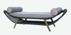 Sun bed lounger Aruba in gray