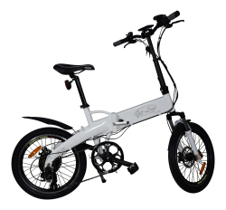 New Jet-Bike as an e-bike in folding version white