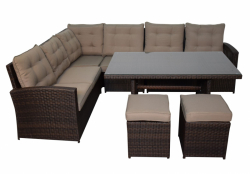 Lounge set La Palma in brown
