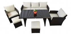 Lounge set Havanna brown