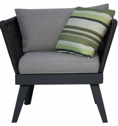 Garden Furniture Garden Armchair 'Cuba', anthracite
