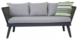 Garden Furniture Sofa 'Cuba', anthracite