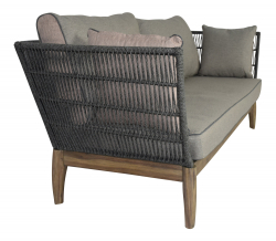 Garden sofa Puerto Rico for outdoor and indoor in gray