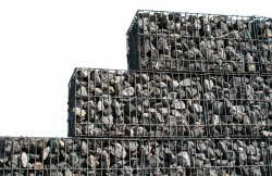 Set of 4 Stone Gabions 100 x 100 x 30 cm