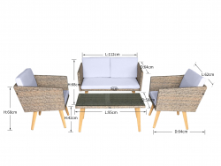 Garden furniture Lounge Set Cassis in brown