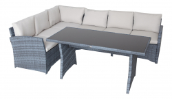 Garden Furniture Corner Sofa 'La Palma II', gray