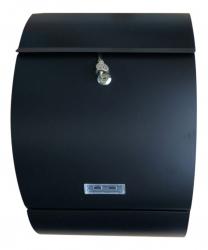 Letter - Box Briefkasten in schwarz matt