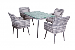 Dining Set 'Lima', gray