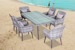 Dining Set 'Quito', gray