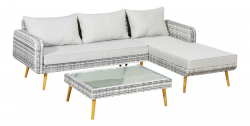 Lounge Set 'La Paz', gray/beige