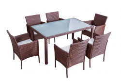 Dining Set 'Mexiko', brown