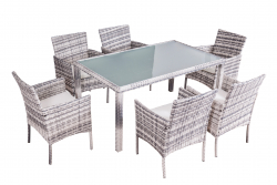 Dining Set 'Mexiko', gray