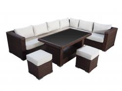 Garden Furniture Set 'Saragossa', brown