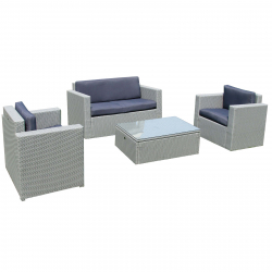 Garden furniture lounge set in grey modell cannes