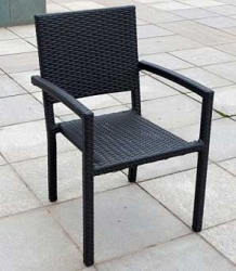 Stacking Chair Maastrich black