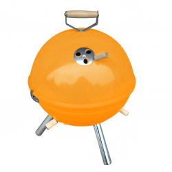 Mini BBQ grill in orange
