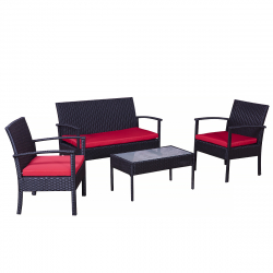 Garden furniture loung set grenoble black